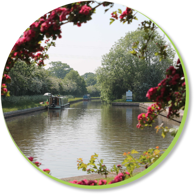 A photograph of the canal by Swanley Marina